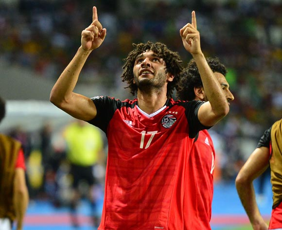 Mohamed Elneny of Egypt celebrates goal during the 2017 Africa Cup of Nations Finals Afcon Final match between Egypt and Cameroon at the Libreville in Gabon on 5 February 2017 ©Samuel Shivambu/BackpagePix