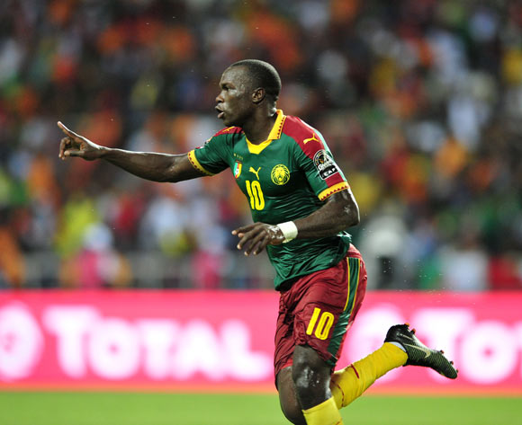 Vincent Aboubakar of Cameroon celebrates goal during the 2017 Africa Cup of Nations Finals Afcon Final match between Egypt and Cameroon at the Libreville in Gabon on 5 February 2017 ©Samuel Shivambu/BackpagePix