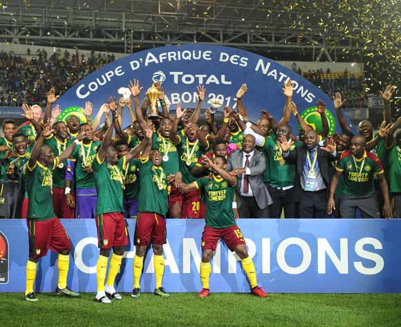 Cameroon Champion of the 2017 Africa Cup of Nations Finals Afcon Final match between Egypt and Cameroon at the Libreville in Gabon on 5 February 2017 ©Samuel Shivambu/BackpagePix