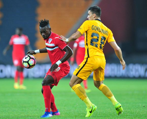 Mohammed Anas of Free State Stars challenged by Lorenzo Gordinho of Kaizer Chiefs during the Absa Premiership 2016/17 match between Kaizer Chiefs and Free State Stars at FNB Stadium, Johannesburg South Africa on 07 February 2017 ©Muzi Ntombela/BackpagePix