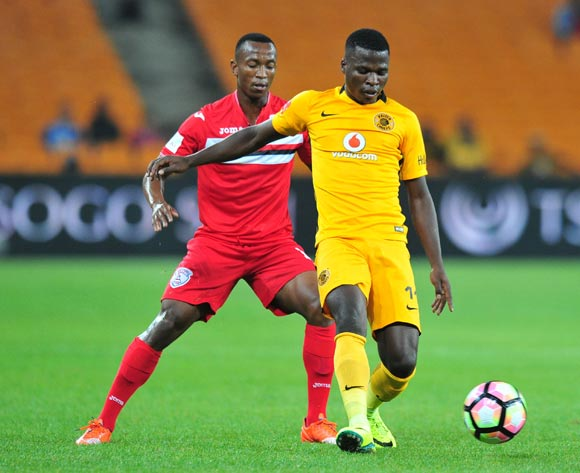 Edmore Chirambadare of Kaizer Chiefs challenged by Sifiso Mbhele of Free State Stars during the Absa Premiership 2016/17 match between Kaizer Chiefs and Free State Stars at FNB Stadium, Johannesburg South Africa on 07 February 2017 ©Muzi Ntombela/BackpagePix