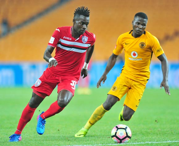 Mohammed Anas of Free State Stars challenged by Edmore Chirambadare of Kaizer Chiefs during the Absa Premiership 2016/17 match between Kaizer Chiefs and Free State Stars at FNB Stadium, Johannesburg South Africa on 07 February 2017 ©Muzi Ntombela/BackpagePix