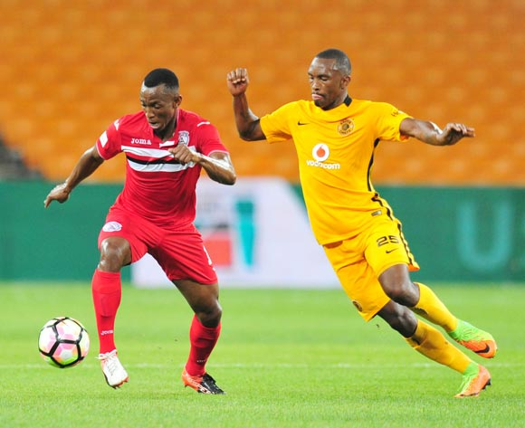 Sifiso Mbhele of Free State Stars challenged by Bernard Parker of Kaizer Chiefs during the Absa Premiership 2016/17 match between Kaizer Chiefs and Free State Stars at FNB Stadium, Johannesburg South Africa on 07 February 2017 ©Muzi Ntombela/BackpagePix