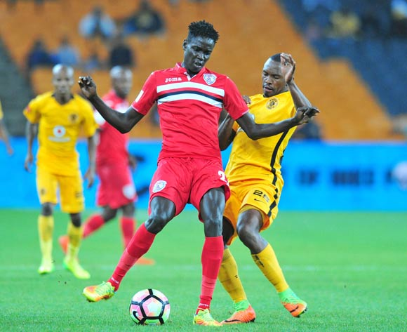 Joseph Okumu of Free State Stars challenged by Bernard Parker of Kaizer Chiefs during the Absa Premiership 2016/17 match between Kaizer Chiefs and Free State Stars at FNB Stadium, Johannesburg South Africa on 07 February 2017 ©Muzi Ntombela/BackpagePix