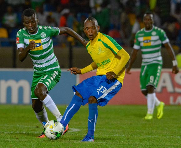 Khama Billiat of Mamelodi Sundowns and Vusi Shikweni of Bloemfontein Celtic during the Absa Premiership match between Bloemfontein Celtic and Mamelodi Sundowns on 8 February 2017 at Dr Molemela Stadium, Bloemfontein ©Frikkie Kapp /BackpagePix
