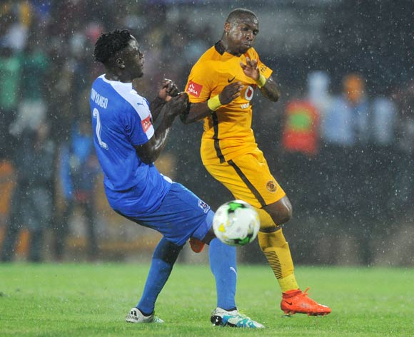 Brian Onyango of Maritzburg United challenges George Maluleka of Kaizer Chiefs during the Absa Premiership 2016/17 match between Maritzburg United and Kaizer Chiefs at Harry Gwala Stadium, Johannesburg South Africa on 11 February 2017 ©Muzi Ntombela/BackpagePix