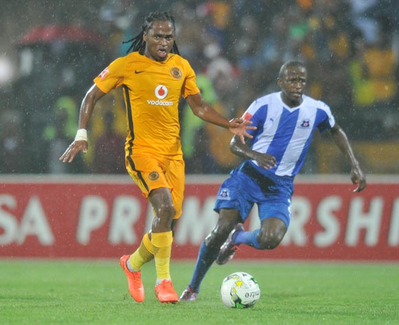Siphiwe Tshabalala of Kaizer Chiefs challenged by Siphesihle Ndlovu of Maritzburg United during the Absa Premiership 2016/17 match between Maritzburg United and Kaizer Chiefs at Harry Gwala Stadium, Johannesburg South Africa on 11 February 2017 ©Muzi Ntombela/BackpagePix