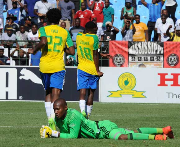 Mamelodi Sundowns CELEBRATES A GOAL during theAbsa Premiership match between Mamelodi Sundowns and Orlando Pirates at the Loftus Stadium on 11 February 2017 ©Sydney Mahlangu/BackpagePix