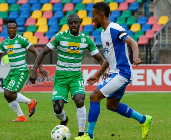 Deon Hotto of Bloemfontein Celtic and Diamond Thopola(C) of Chippa United during the Absa Premiership match between Bloemfontein Celtic and Chippa United on 19 February 2017 at Dr Molemela Stadium, Bloemfontein ©Frikkie Kapp /BackpagePix