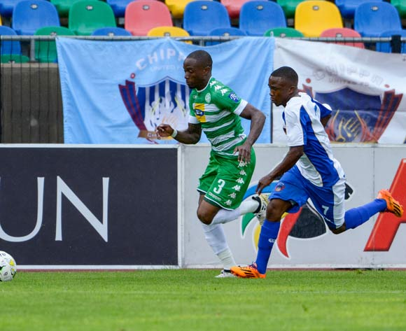 Mthokozisi Dube of Bloemfontein Celtic and Paseka Mako of Chippa United  during the Absa Premiership match between Bloemfontein Celtic and Chippa United on 19 February 2017 at Dr Molemela Stadium, Bloemfontein ©Frikkie Kapp /BackpagePix