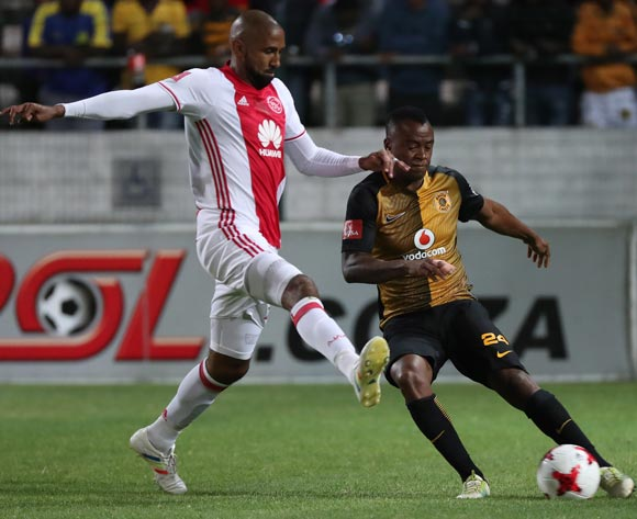 Tsepo Masilela of Kaizer Chiefs evades challenge from Nathan Paulse of Ajax Cape Town during the Absa Premiership 2016/17 football match between Ajax Cape Town and Kaizer Chiefs at Athlone Stadium, Cape Town on 25 February 2017 ©Chris Ricco/BackpagePix
