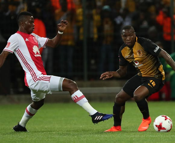 George Maluleka of Kaizer Chiefs evades challenge from Rodrick Kabwe of Ajax Cape Town during the Absa Premiership 2016/17 football match between Ajax Cape Town and Kaizer Chiefs at Athlone Stadium, Cape Town on 25 February 2017 ©Chris Ricco/BackpagePix