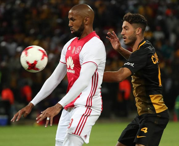 Nathan Paulse of Ajax Cape Town evades challenge from Daniel Cardoso of Kaizer Chiefs during the Absa Premiership 2016/17 football match between Ajax Cape Town and Kaizer Chiefs at Athlone Stadium, Cape Town on 25 February 2017 ©Chris Ricco/BackpagePix