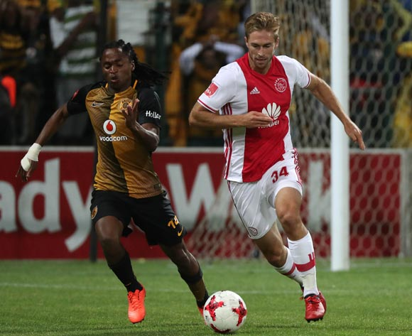 Rheece Evans of Ajax Cape Town gets away from Siphiwe Tshabalala of Kaizer Chiefs during the Absa Premiership 2016/17 football match between Ajax Cape Town and Kaizer Chiefs at Athlone Stadium, Cape Town on 25 February 2017 ©Chris Ricco/BackpagePix