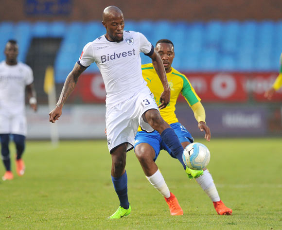 Sifiso Hlanti of Bidvest Wits challenged by Sibusiso Vilakazi of Mamelodi Sundowns during the Absa Premiership 2016/17 match between Mamelodi Sundowns and Bidvest Wits at Loftus Stadium, Pretoria  South Africa on 25 February 2017 ©Muzi Ntombela/BackpagePix