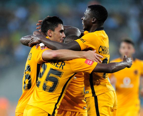 Lorenzo Gordinho Celebrations with his teammates as Kaizer Chiefs scores during the Absa Premiership 2016/17 game between Kaizer Chiefs and Highlands Park at Moses Mabhida Stadium, Durban on 18 February 2017 © Gerhard Duraan/BackpagePix