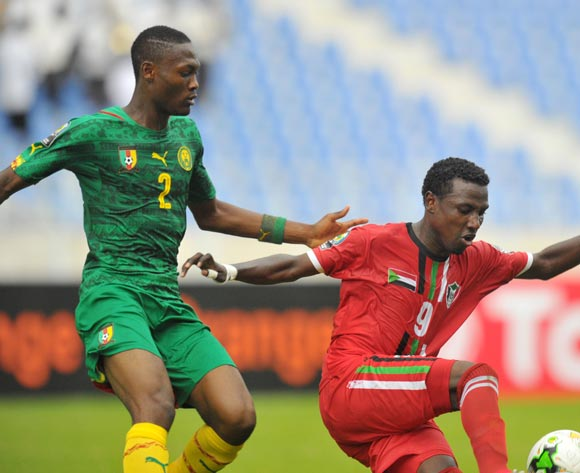 Walaa Mohamed of Sudan challenged by Duplexe Bangou of Cameroon during the 2017 Total Zambia U-20 African Cup of Nations match between Sudan and Cameroon at Levy Mwanawasa Stadium, Ndola Zambia on 02 March 2017 ©Muzi Ntombela/BackpagePix