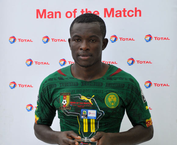 Man of the match Eric Mbu of Cameroon during the 2017 Total Zambia U-20 African Cup of Nations match between Sudan and Cameroon at Levy Mwanawasa Stadium, Ndola Zambia on 02 March 2017 ©Muzi Ntombela/BackpagePix