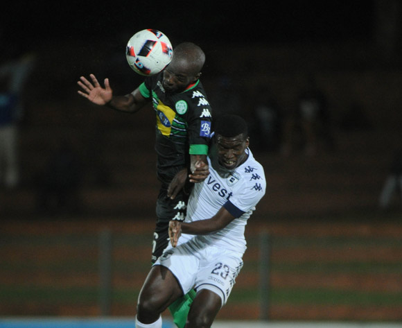 Mpho Maruping of Bloemfontein Celtic challenges Sifiso Myeni of Bidvest Wits during the Absa Premiership match between Bidvest Wits and Bloemfontein Celtic  on the 03 March 2017 at Bidvest Stadium © Sydney Mahlangu/BackpagePix