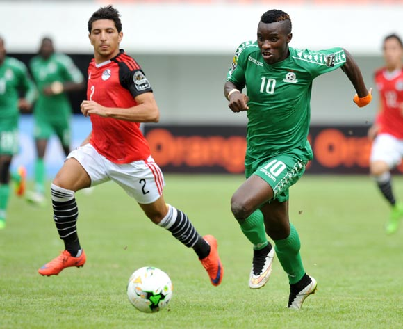 Fashion Sakala of Zambia challenged by Ahmed Hany Moussa of Egypt during the 2017 Total Zambia U-20 African Cup of Nations match between Zambia and Egypt at Heroes National Stadium, Lusaka Zambia on 04 March 2017 ©Muzi Ntombela/BackpagePix