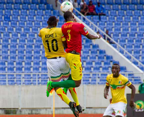 Kone of Mali and Diaby of Guinea in an aerial battle