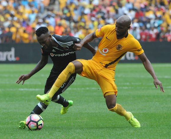 Ramahlwe Mphahlele of Kaizer Chiefs challenges Mpho Makola of Orlando Pirates during theAbsa Premiership match between Kaizer Chiefs and Orlando Pirates  on the 04 March 2017 at FNB Stadium © Sydney Mahlangu/BackpagePix
