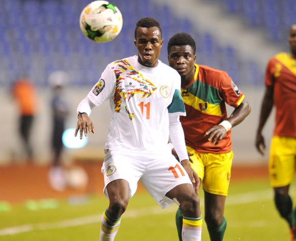 Ibrahima Ndiaye of Senegal challenged by Yamodou Toure of Guinea during the 2017 Total Zambia U-20 African Cup of Nations Zambia match between Senegal and Guinea at Levy Mwanawasa Stadium, Lusaka Zambia on 09 March 2017 ©Muzi Ntombela/BackpagePix