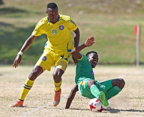 Theriso Mapheto of Baroka FC battles for the ball with Ranga Chivaviro of FC Cape Town during the 2017 Nedbank Cup Last 32 football match between FC Cape Town and Baroka FC at NNK Stadium, Cape Town on 11 March 2017 ©Chris Ricco/BackpagePix