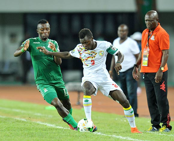 Jean Ndecky of Senegal challenged by Emmanuel Banda of Zambia during the 2017 Total Zambia U-20 African Cup of Nations Final match between Zambia and Senegal at Heroes National Stadium, Lusaka Zambia on 12 March 2017 ©Muzi Ntombela/BackpagePix