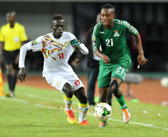 Idrissa Ndiaye of Senegal challenged by Krepin Diatte of Senegal during the 2017 Total Zambia U-20 African Cup of Nations Final match between Zambia and Senegal at Heroes National Stadium, Lusaka Zambia on 12 March 2017 ©Muzi Ntombela/BackpagePix