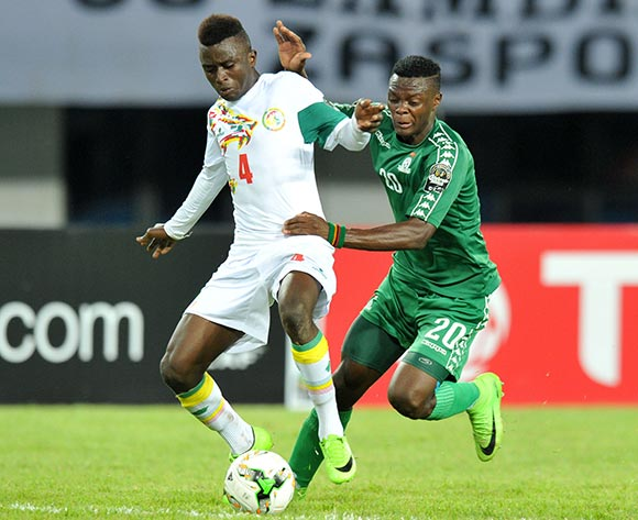 Souleyman Aw of Senegal challenged by Patson Daka of Zambia during the 2017 Total Zambia U-20 African Cup of Nations Final match between Zambia and Senegal at Heroes National Stadium, Lusaka Zambia on 12 March 2017 ©Muzi Ntombela/BackpagePix
