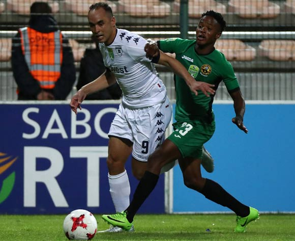 Eleazar Rodgers of Bidvest Wits evades challenge from Phetso Maphanga of Cape Town All Stars during the 2017 Nedbank Cup Last 32 football match between Cape Town All Stars and Bidvest Wits at Athlone Stadium, Cape Town ©Chris Ricco/BackpagePix