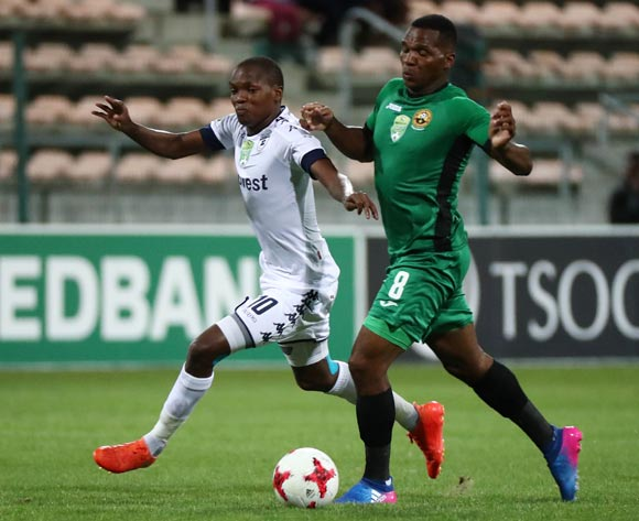 Mokgakolodi Ngele of Bidvest Wits battles for the ball with Mlungisi Mbunjana of Cape Town All Stars during the 2017 Nedbank Cup Last 32 football match between Cape Town All Stars and Bidvest Wits at Athlone Stadium, Cape Town ©Chris Ricco/BackpagePix
