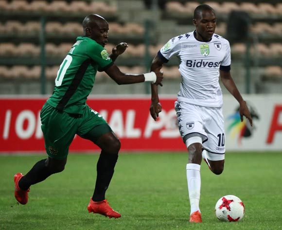 Mokgakolodi Ngele of Bidvest Wits battles for the ball with Mvalo Msekeli of Cape Town All Stars during the 2017 Nedbank Cup Last 32 football match between Cape Town All Stars and Bidvest Wits at Athlone Stadium, Cape Town ©Chris Ricco/BackpagePix