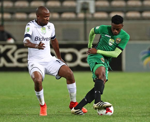 Manqola Akhona of Cape Town All Stars battles for the ball with Xola Mlambo of Bidvest Wits during the 2017 Nedbank Cup Last 32 football match between Cape Town All Stars and Bidvest Wits at Athlone Stadium, Cape Town ©Chris Ricco/BackpagePix