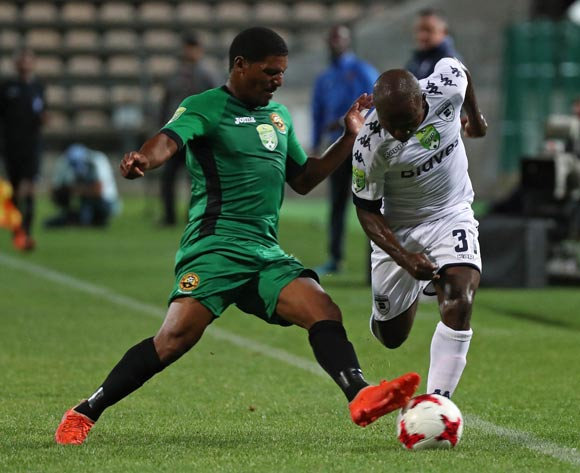 Christanus Uzoenyi of Bidvest Wits gets away from Lesvin Stoffels of Cape Town All Stars during the 2017 Nedbank Cup Last 32 football match between Cape Town All Stars and Bidvest Wits at Athlone Stadium, Cape Town ©Chris Ricco/BackpagePix