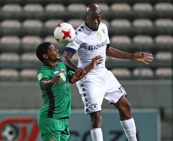 Sifiso Hlanti of Bidvest Wits battles for the ball with Lesvin Stoffels of Cape Town All Stars during the 2017 Nedbank Cup Last 32 football match between Cape Town All Stars and Bidvest Wits at Athlone Stadium, Cape Town ©Chris Ricco/BackpagePix