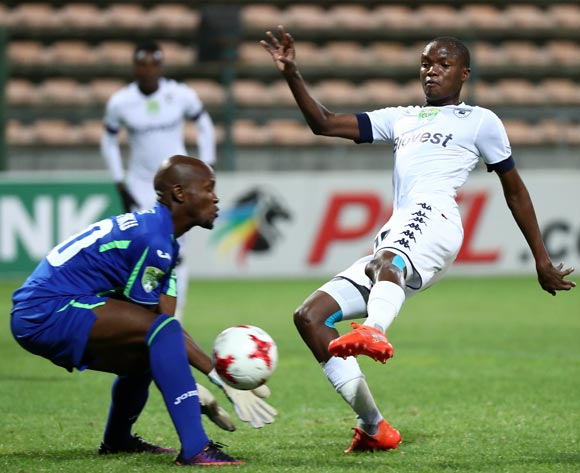 Mokgakolodi Ngele of Bidvest Wits challenge for ball Mpakumpaku Ludwe of Cape Town All Stars during the 2017 Nedbank Cup Last 32 football match between Cape Town All Stars and Bidvest Wits at Athlone Stadium, Cape Town ©Chris Ricco/BackpagePix