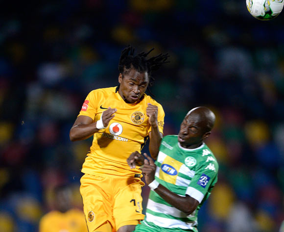 Siphiwe Tshabalala of Kaizer Chiefs and Musa Nyatama of Bloemfontein Celtic during the Absa Premiership 2016/17 game between Bloemfontein Celtic and Kaizer Chiefs  at Dr Molemela Stadium, Bloemfontein on 12 April 2017 © Gerhard Steenkamp/BackpagePix