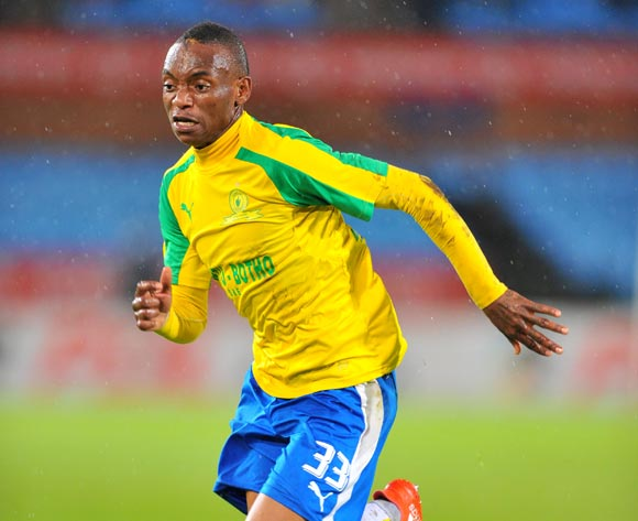 Khama Billiat of Mamelodi Sundowns during the 2017 Absa Premiership 2016/17 match between Mamelodi Sundowns and Supersport United at the Loftus Stadium, South Africa on 13 April 2017 ©Samuel Shivambu/BackpagePix