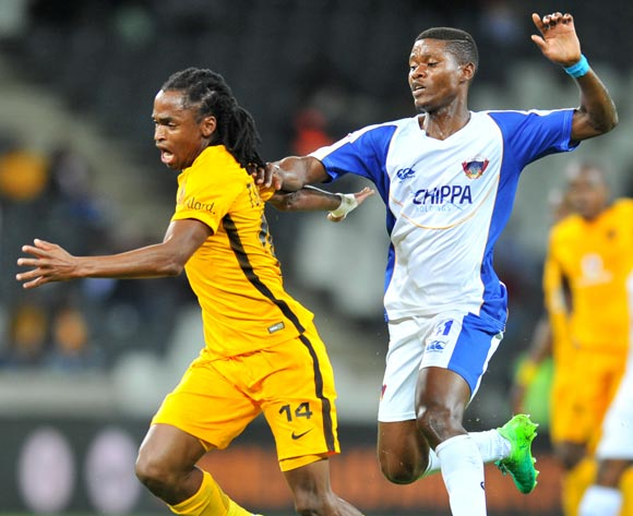 Siphiwe Tshabalala of Kaizer Chiefs challenged by Menzi Masuku of Chippa United during the Absa Premiership 2016/17 match between Kaizer Chiefs and Chippa United at the Mbombela Stadium, South Africa on 15 April 2017 ©Samuel Shivambu/BackpagePix