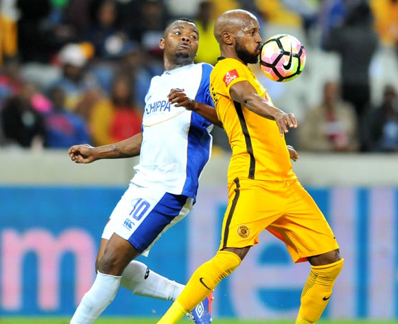 Ramahlwe Mphahlele of Kaizer Chiefs challenged by Andile Mbenyane of Chippa United during the Absa Premiership 2016/17 match between Kaizer Chiefs and Chippa United at the Mbombela Stadium, South Africa on 15 April 2017 ©Samuel Shivambu/BackpagePix