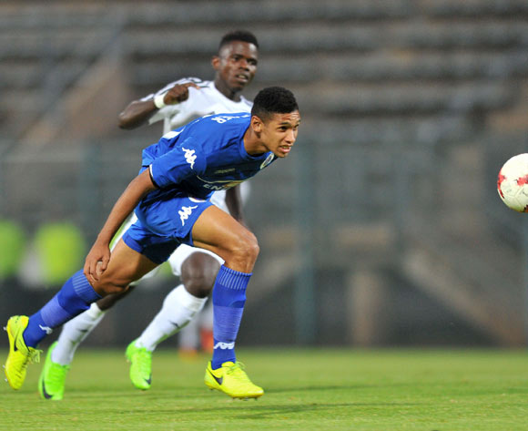 Denwin Farmer of Supersport United during the 2017 CAF Confederation Cup match between Supersport United and Barrack Young Controller at the Lucas Moripe Stadium, South Africa on 16 April 2017 ©Samuel Shivambu/BackpagePix