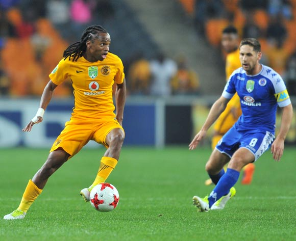 Siphiwe Tshabalala of Kaizer Chiefs challenged by Dean Furman of Supersport United during the 2017 Nedbank Cup match between Kaizer Chiefs and Supersport United at the FNB Stadium, South Africa on 22 April 2017 ©Samuel Shivambu/BackpagePix