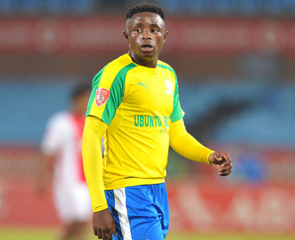 Lucky Mohomi of Mamelodi Sundowns during the Absa Premiership 2016/17 match between Mamelodi Sundowns and Ajax Cape Town at Loftus Versfeld Stadium in Pretoria, South Africa on 25 April 2017 ©Muzi Ntombela/BackpagePix