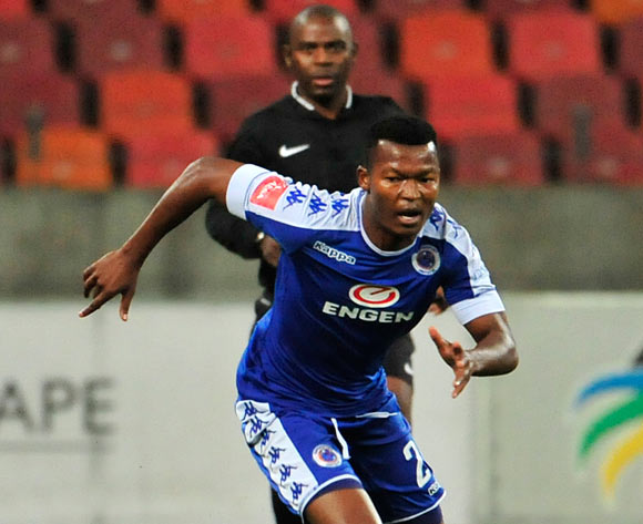 Mandla Masango of Supersport United during the Absa Premiership 2016/17 game between Chippa United and Supersport United  at Nelson Mandela Bay Stadium in Port Elizabeth on 17 May 2017 © Deryck Foster/BackpagePix