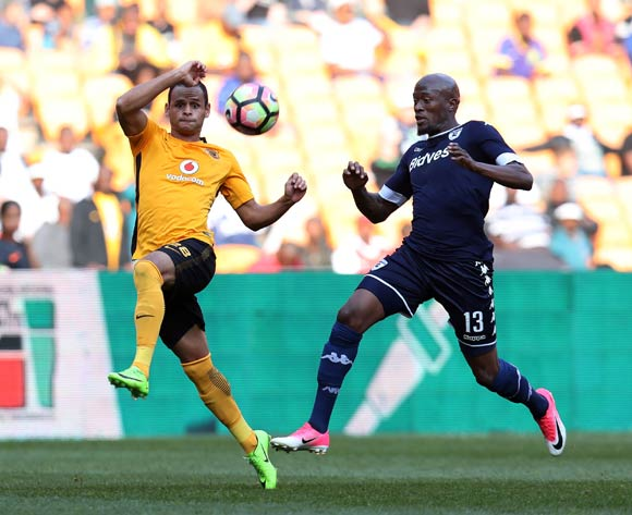 Gustavo Paez of Kaizer Chiefs challenged by Sifiso Hlanti of Bidvest Wits during the Absa Premiership 2016/17 match between Kaizer Chiefs and Bidvest Wits at the FNB Stadium, Johannesburg South Africa on 27 May 2017 ©Muzi Ntombela/BackpagePix