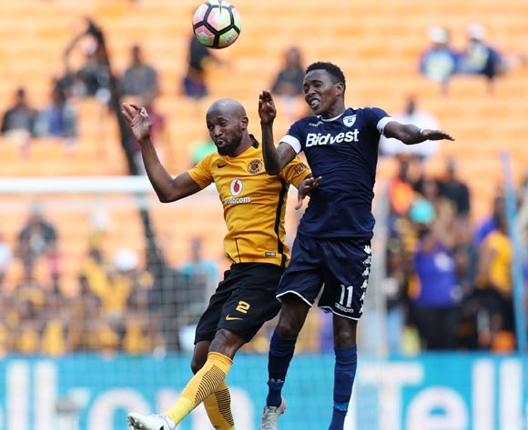 Ramahlwe Mphahlele of Kaizer Chiefs clears ball from Elias Pelembe of Bidvest Wits during the Absa Premiership 2016/17 match between Kaizer Chiefs and Bidvest Wits at the FNB Stadium, Johannesburg South Africa on 27 May 2017 ©Muzi Ntombela/BackpagePix