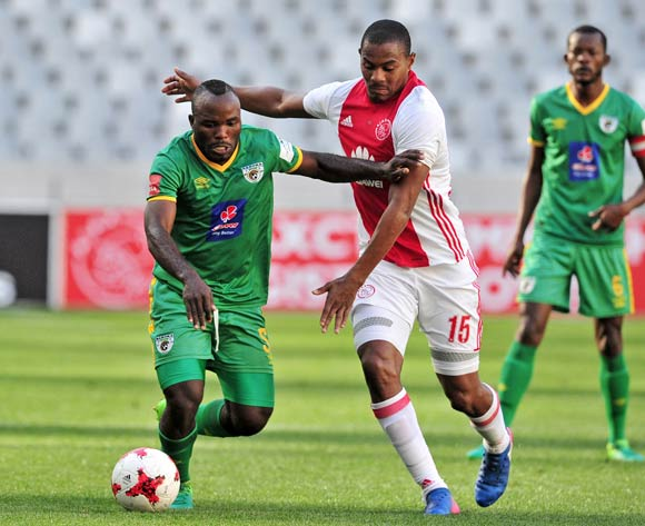Prince Nxumalo of Ajax Cape Town and Matome Kgoetyane of Baroka battle for possession during the Absa Premiership 2016/17 game between Ajax Cape Town and Baroka FC at Cape Town Stadium on 27 May 2017 © Ryan Wilkisky/BackpagePix
