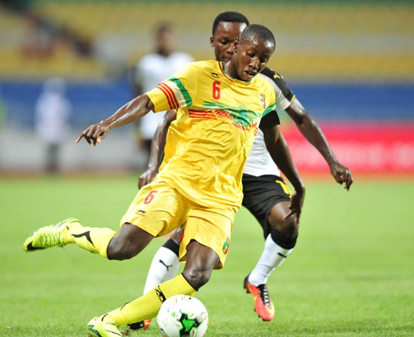 Mohamed Camara of Mali challenged by Emmanuel Toku of Ghana during the 2017 Under 17 Africa Cup of Nations Finals match between Ghana and Mali at the Libreville Stadium in Gabon on 28 May 2017 ©Samuel Shivambu/BackpagePix